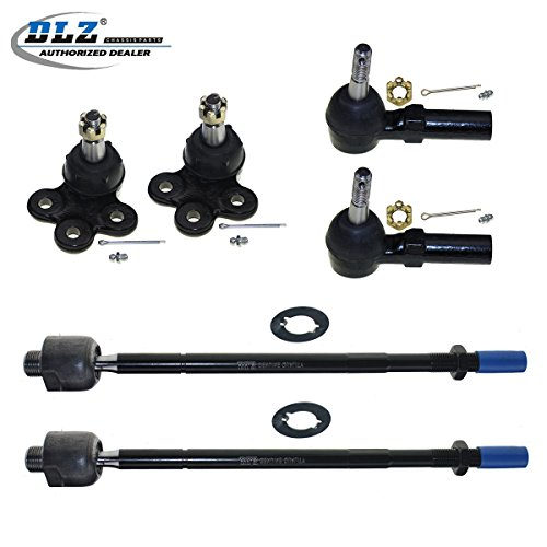 DLZ 6 Pcs Front Suspension Kit-Lower Ball Joint Outer Inner Tie Rod End Compatible with 2000-2005 Buick LeSabre/Cadillac DeVille/Pontiac Bonneville 1997-2005 Buick Park Avenue 1997-1999 Buick Riviera