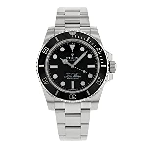 41 eg9jqchL. SS300  - Rolex Submariner Black Dial Stainless Steel Automatic Mens Watch 114060