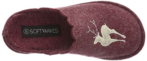 Bordo Femme Hausschuh Softwaves 540 Rouge Chaussons Rot UgPwP1