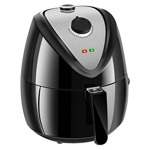 Fashine 3.5L 1350W Electric Air Fryer with Timer and Temperature Controls, Smokeless Low-Fat Non-stick Fryer for Home Kitchen (US Stock) (1300W, 2.6L) Review