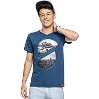 Camiseta Manga Curta Juvenil Menino Azul - Elian Beats