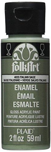 Craft Folk Art (FolkArt Enamel Glass & Ceramic Paint in Assorted Colors (2 oz), 4023, Italian Sage)