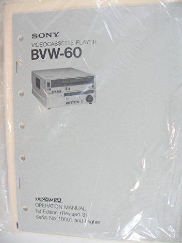 sette Player Betacam SP Operation Manual (Betacam Player)
