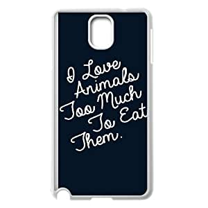 Samsung Galaxy Note 3 Cell Phone Case White I Love Animals Too Much To Eat Them KYS1089797KSL
