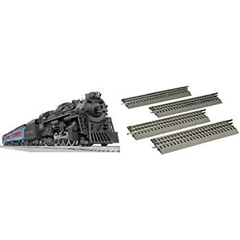 Lionel Polar Express Remote Train Set and O-Gauge Straight Track 4-Pack