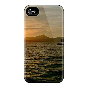 New Arrival Iphone 4/4s Case Sunset Over Lake Case Cover