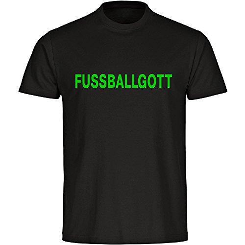 T-Shirt Fussballgott schwarz Herren Größe S bis 5XL