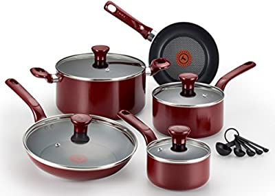T-fal Excite Nonstick Thermo-Spot Dishwasher Safe Oven Safe Cookware Set