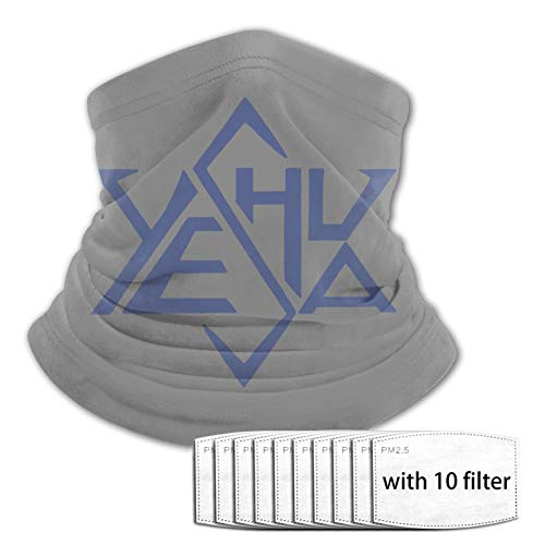 Yeshua Star of David Multifunctional Cloth Scarf Headwear Balaclava Face Masks Bandana Neck Gaiter with Filters