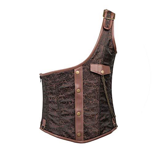Brocade Black Camera Bag - Black Brocade Steel Boned Corset Steampunk Vest,Brown,L