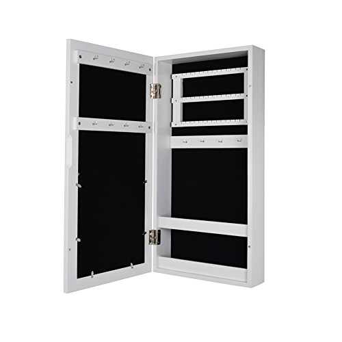 GLS White Photo Frames Wall Mount Jewelry Armoire Cosmetic Organizer Picture Display Box by GLS (Image #3)