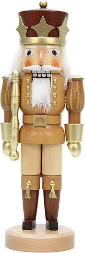 German Christmas Nutcracker Prince natural/gold - 39,0cm / 15.4inch - Christian Ulbricht by Authentic German Erzgebirge Handcraft