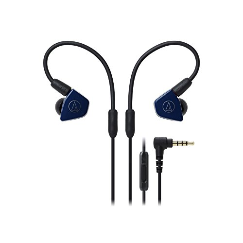 Audio-Technica ATH-LS50iSNV In-Ear Headphones with In-Line Mic & Control, Navy -  Audio - Technica
