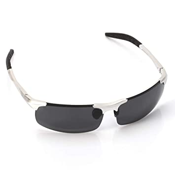 DAYANGE Gafas de Sol polarizadas de Aluminio de magnesio para Hombre, Gafas de Pesca de