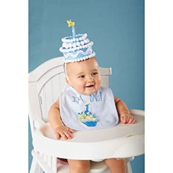 Amazon Blue Felt Cake First Birthday Hat Health Personal Care