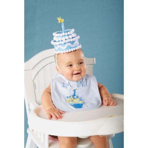 c762ca40f Amazon.com: Blue Felt Cake First Birthday Hat: Health & Personal Care
