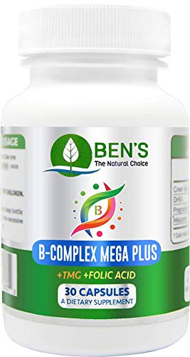 Ben's B Complex Mega Plus - Increase Strength and Balance - Improves Memory and Focus - Strengthens Immune System - Restore Libido (6 Bottles)