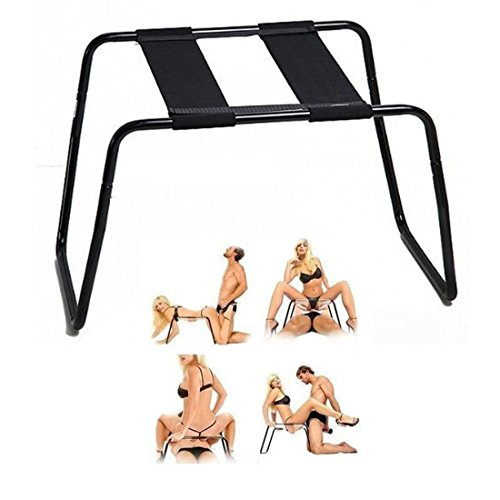 Multifunction Sex Chair, Fugaroy Weightless Detachable Elastic Sex Stool - Sexual Position Assistance - Adjustable Bondage Chair, Easily Assemble Indoor/Outdoor Chair(Black)
