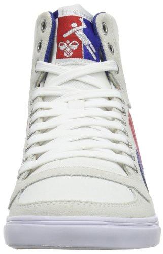 Red Blue 9228 Stadil White Hummel Bianco ginnastica High Uomo Slimmer Scarpe da Gum vH1FwUnqH