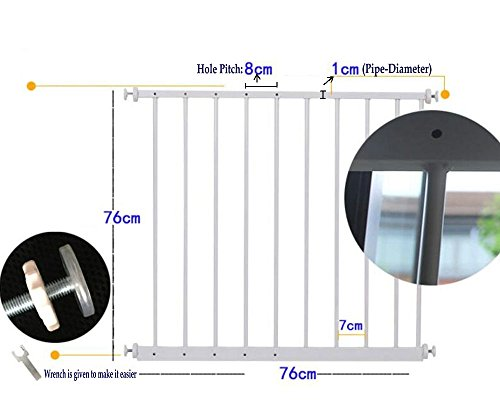 Fairy Baby Window Guards for Children Hole-Free Installation Todder Safety Window Gate Bars White,61.41''-86.61'' by Fairy Baby (Image #6)