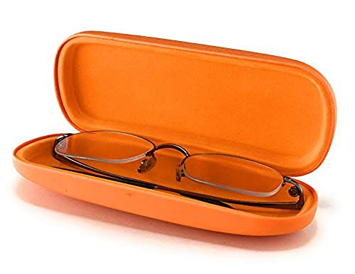 (Hard Eyeglass Case for Reading Glasses Spectacles and Small Sunglasses. Sturdy Pocket Size Cases.)