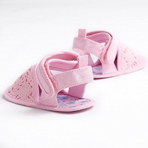3 Prewalker sandalias Bebé Punto Bebés Calzado Zapatos Meses 18 Verano zapatos De 12 bebé Auxma Suaves Para Zapatos 6 12 Rosado 6 6wwqSd