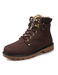Boots Snow Sneakers Men Women Shoes Outdoor Winter Ankle Fur Lined Warm Waterproof Booties Anti-Slip…