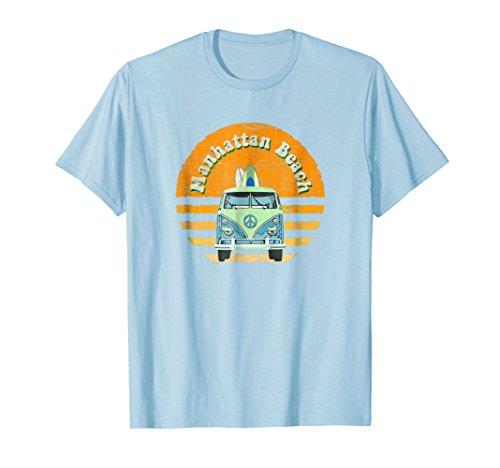 Vintage Manhattan Beach, CA Hippie Van Beach Surfer T-Shirt