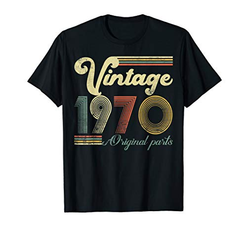 50 Years Old - Made in 1970 - Vintage 50th Birthday T-Shirt