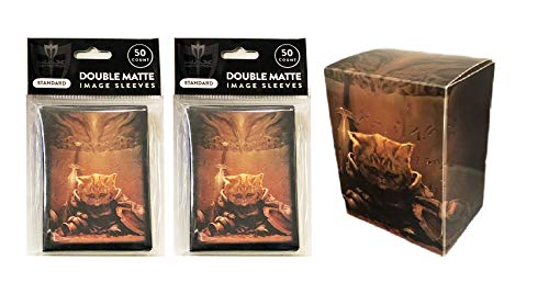 End of Things Design Deck Box + 100 Double Matte Sleeves (fits MTG, Pokemon, Force of Will Cards)