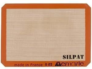 "Silpat BM729 Premium Non-Stick Silicone Baking Mat, Half Sheet Size, 11-5/8"" x 16-1/2"""