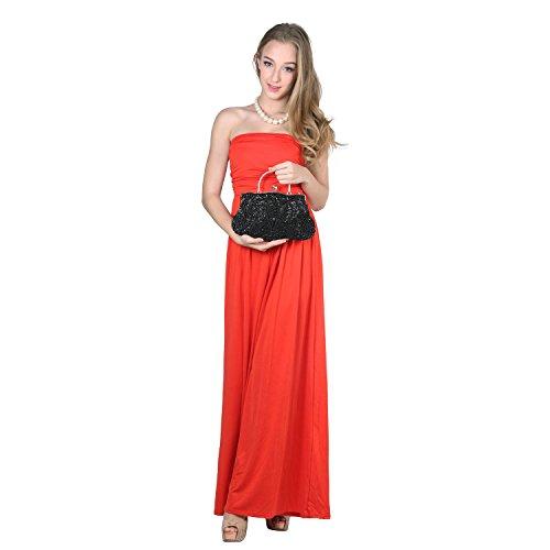 ¡OFERTA! LadyGirl Vogue - Bolso de mano, de moda, de mujer, para fiesta, ideal para regalo - Distintos colores, precio/unidad negro
