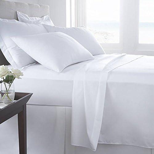 Hotel Quality 100% sábanas de algodón egipcio blanco, rey - S ...