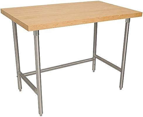 Tapa de madera th2s-245 mesa de trabajo con base de acero ...