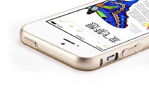 Ukamshop füriPhone 5 5S ultradünne Metall Luxus Aluminium Stoßrahmen Schutzhülle case Gold