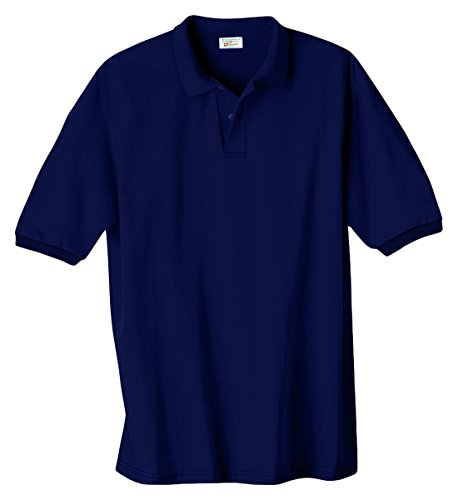 Hanes Men's Cotton-Blend EcoSmart® Jersey Polo (Classy Outfits For Men)
