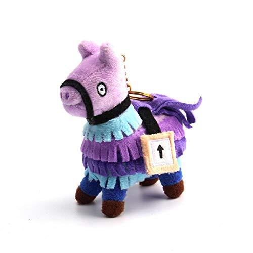 AOLVO Alpaca Soft Toy Plush 10cm Cute Loot Llama Plush Stuffed Toy Doll Firgure Soft Doll Plush Animals Keyring, Troll Stash Animal Alpaca Gift for Kids Girls Boys Children with Keychain