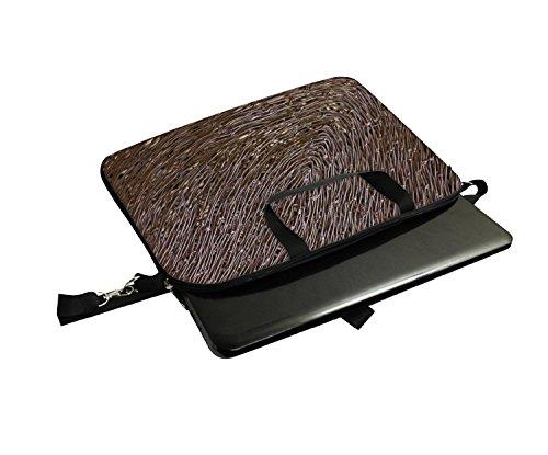 Snoogg Bird Nest Laptop Netbook Computer Tablet PC Schulter Case mit Sleeve Tasche Halter für Apple iPad/HP TouchPad Mini 210/Acer Aspire One und die meisten 24,6cm 25,4cm 25,7cm 25,9cm Zoll Netbo