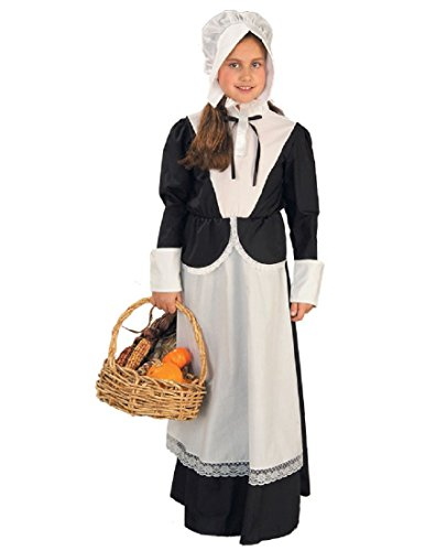 [Forum Novelties Pilgrim Girl Costume, Child's Medium] (Boy Pilgrim Costumes)