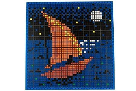 Strictly Briks - Puzzle Rubik's Briks - Plaque de Base de 25,4 x 25,4 cm/100 Briques 3x3 imprimées pour Faire Le Puzzle - Officiellement autorisé par Les créateurs du Rubik's Cube - STEM | 01 - Chiot