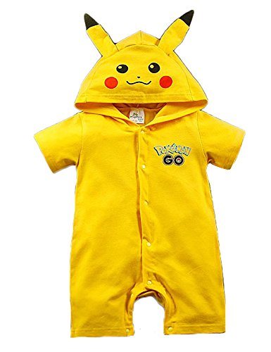 Es Unico Pikachu Baby Onesie Costume, One Piece Romper Bodysuit for Baby Girls and Boys. Baby Shower Gift. (3-6 Months)