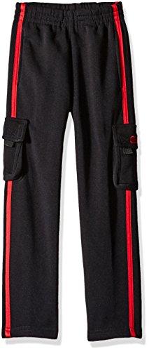 CB Sports Little Boys' Active Hi Tech Pant, TI70-Black/Red, 5/6 (Boys Sports)