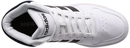 adidas Vs Hoops Mid 2.0, Sneaker a Collo Alto Uomo Bianco (Ftwwht/Cblack/Conavy Ftwwht/Cblack/Conavy)