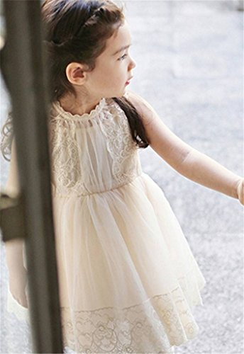 Bow Dream Lace Vintage Flower Girl's Dress Ivory 12 by Bow Dream (Image #4)