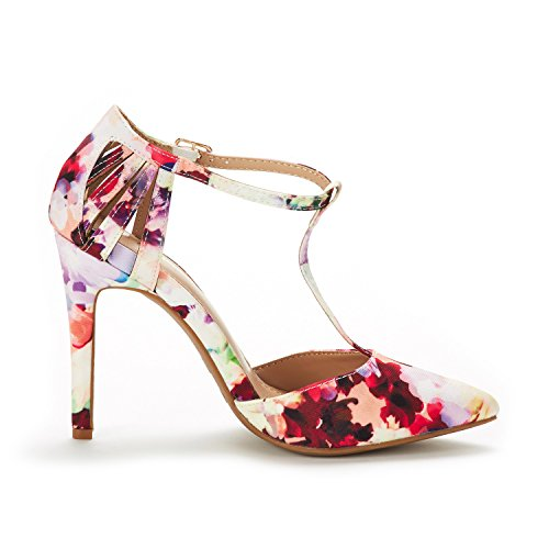4a904bb7067 DREAM PAIRS Women s Oppointed-Mary Floral Fashion Dress High Heel Pointed  Toe Wedding Pumps Shoes
