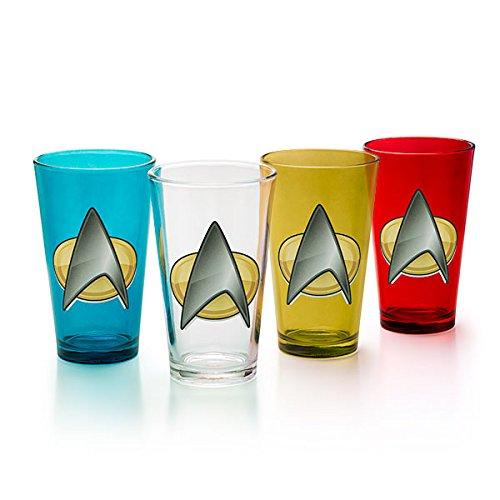 Star Trek Logo TNG Insignia 4 Pint Glass Set!