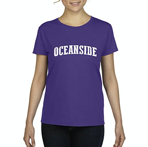 Mom`s Favorite Oceanside California Beach City Traveler Gift Women's Short Sleeve T-Shirt (XLP) -