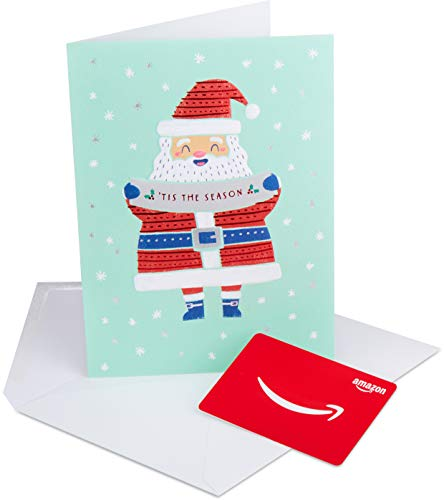 Amazon.com Gift Card in a Premium Greeting Card by American Greetings (Tis the Season Santa Design)