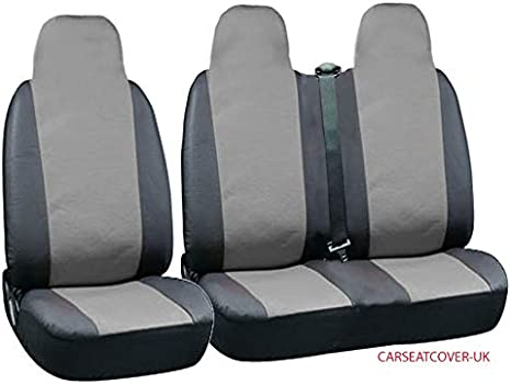 2 1 Rhinos-Autostyling FOR CITROEN DISPATCH 2017 Black Quilted Diamond Leather Premium Van Seat Covers Single Drivers And Double Passengers Seat Covers