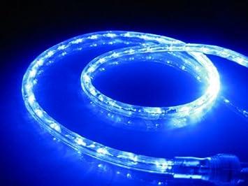 18Ft Rope Lights; Ocean Blue LED Rope Light Kit; 1.0u0026quot;LED Spacing;